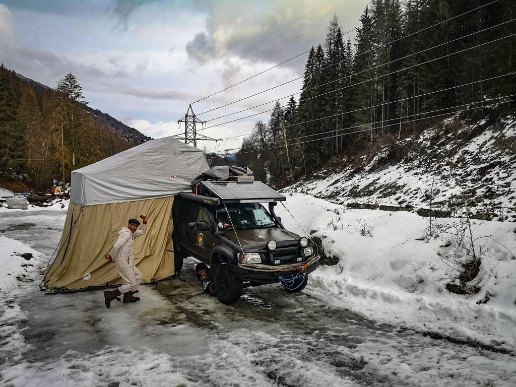 wildcamping in Switzerland, winter