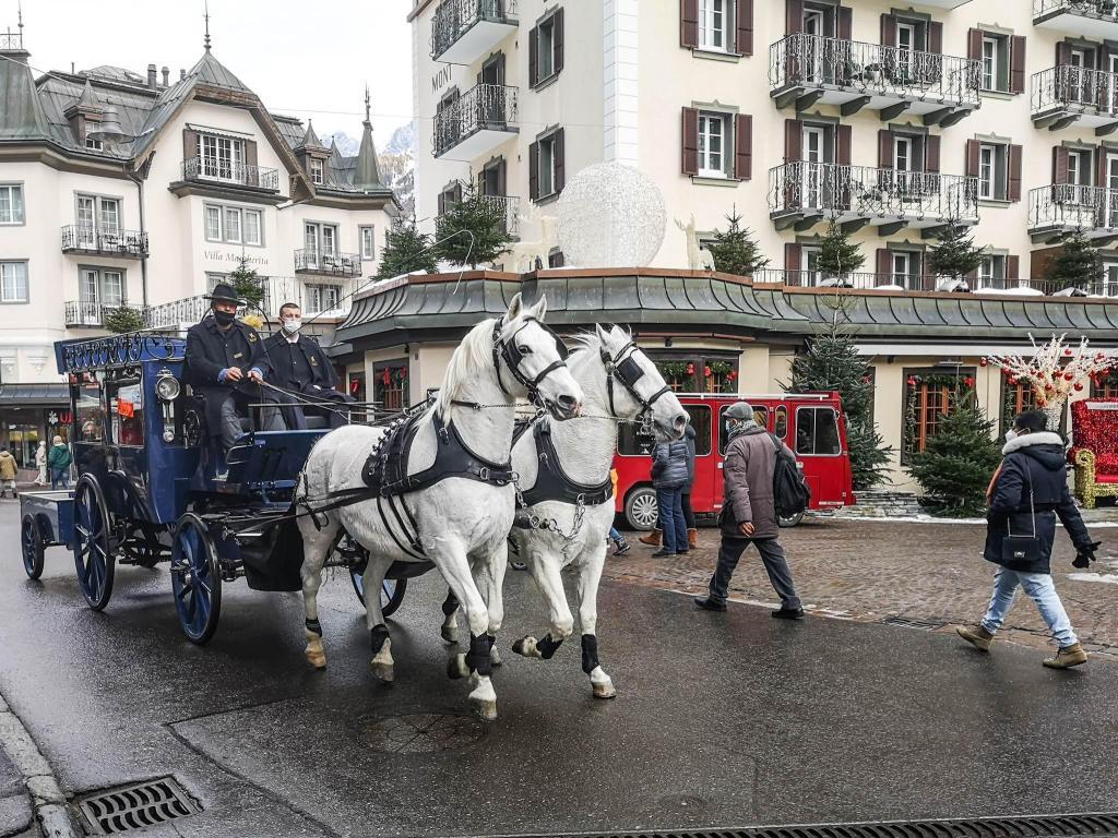 Dorożka w Zermatt, Szwajcaria