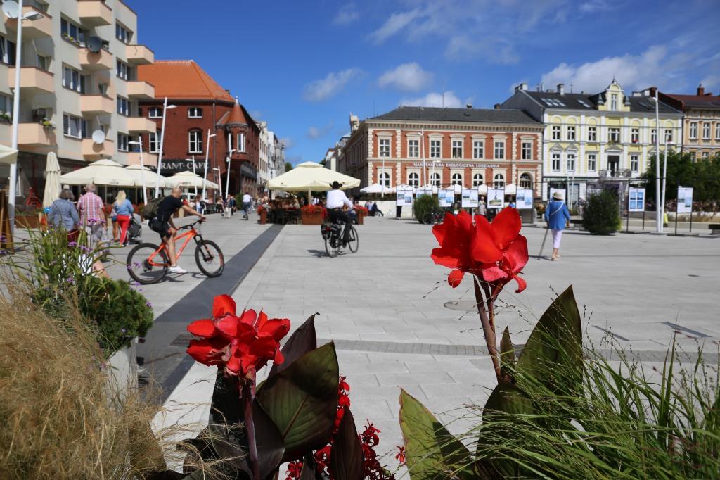 Plac wolności w centrum Świnoujścia.