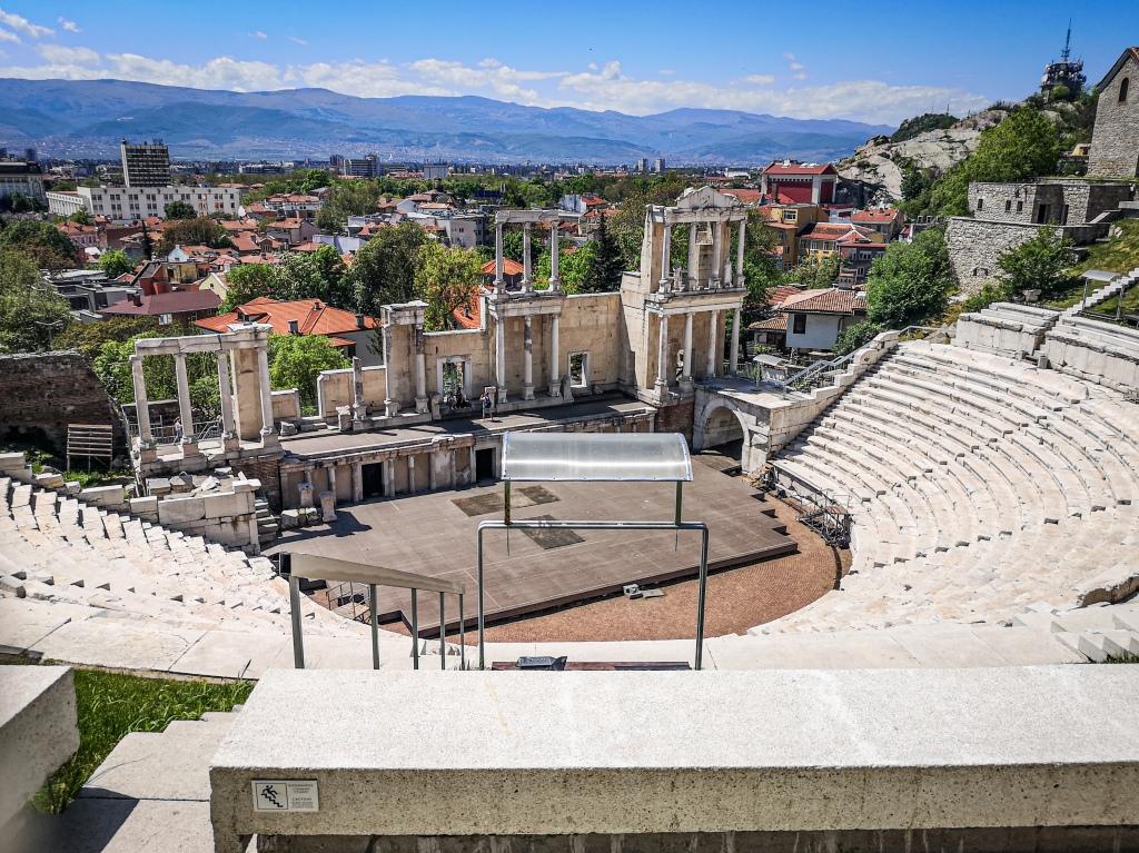 antyczny amfiteatr Plovdid, w Bułgarii co zobaczyć  atrakcje  Bułgaria  Pcham do Przodu  Płowdiw